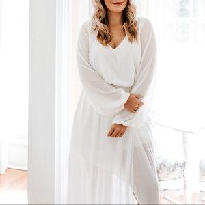 White Long-Sleeved Show Me Your Mumu Dress